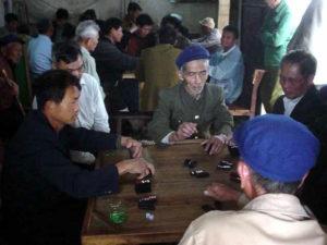 Partie de Mah-jong à Beihai