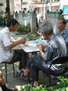 "Partie de Mahjong ""cartes"""